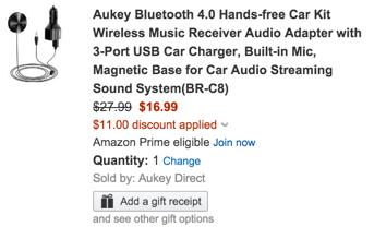Aukey BR-C8 Car Bluetooth Audio Reciever