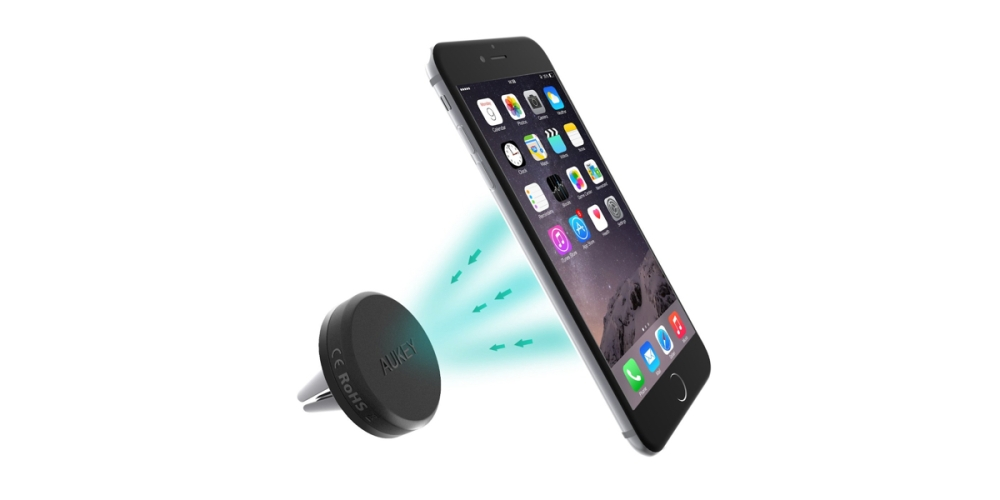 Aukey Reinforced Magnetic Cradle-less Car Air Vent Mount Smartphone Holder