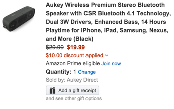 Aukey Wireless Premium Stereo Bluetooth Speaker with CSR Bluetooth 4.1 Technology, Dual 3W Drivers, Enhanced Bass, 14 Hours Playtime for iPhone, iPad, Samsung, Nexus, and More
