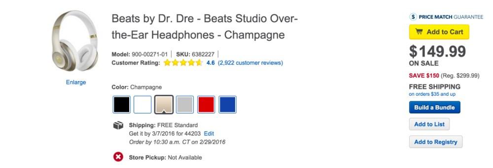 Beats by Dr. Dre - Beats Studio Over-the-Ear Headphones