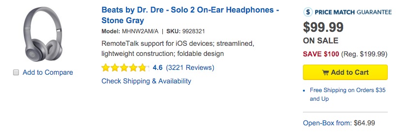 Beats By Dr Dre Solo 2 On Ear Headphones Now Half Off