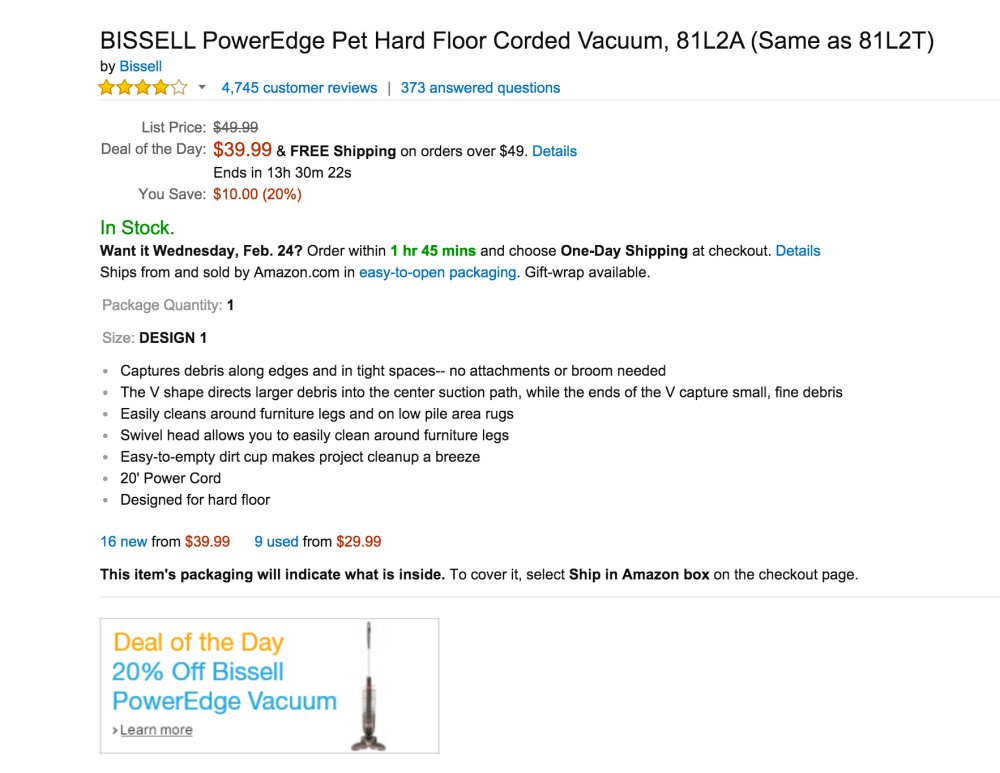 BISSELL PowerEdge Pet Hard Floor Corded Vacuum (81L2A)-3