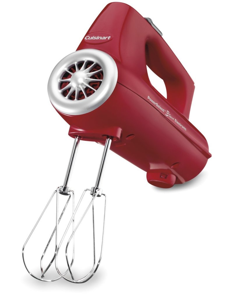 Cuisinart Electronic Hand Mixer 3-Speed in red (CHM-3R)