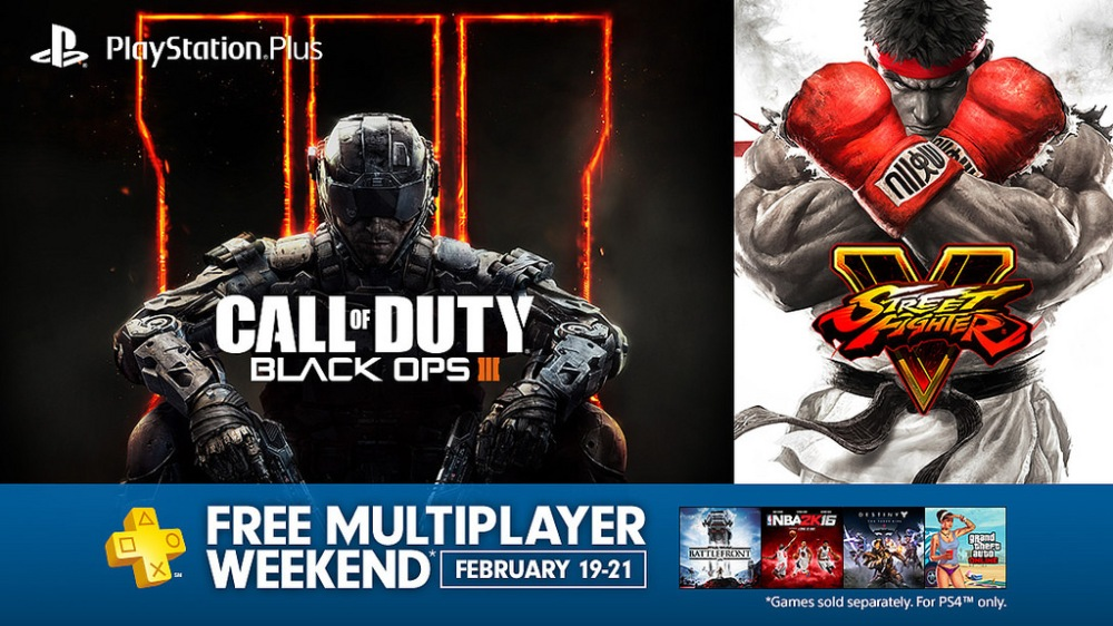 Free multiplayer weekend-PS4