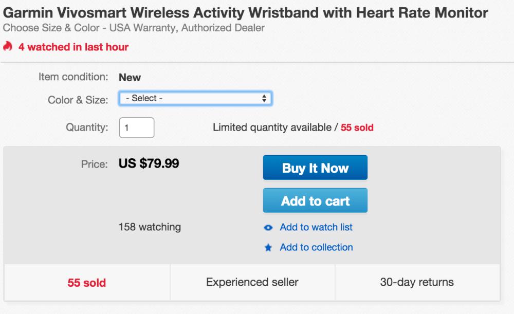 Garmin Vivosmart Wireless Activity Wristband with heart rate monitor-2