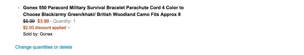 Gonex-550 Military Survival Paracord bracelet with fire starter (multiple colors)-4