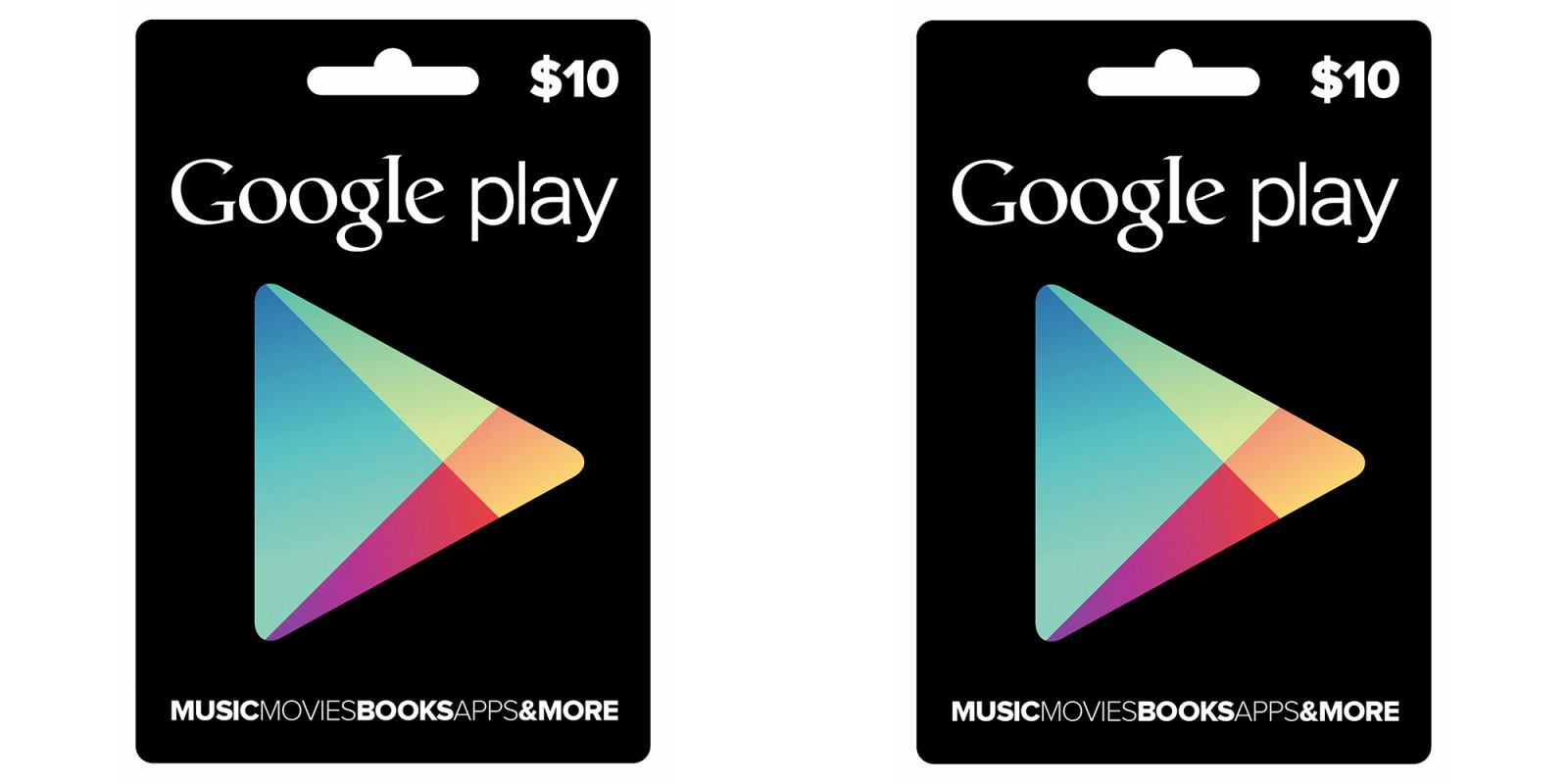 Get a pair of $10 Google Play Gift Cards ($20 total) for ...