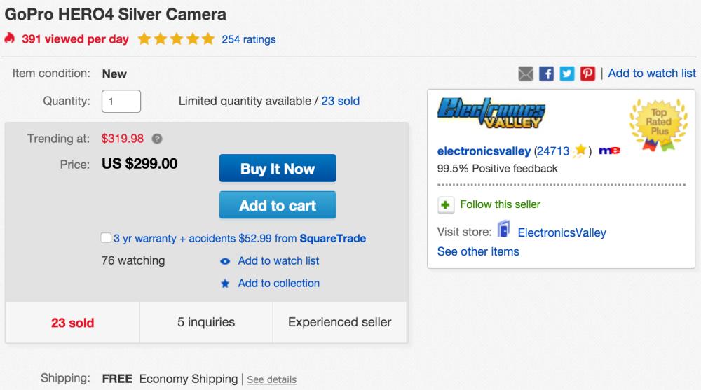 gopro-hero4-silver-ebay-deal