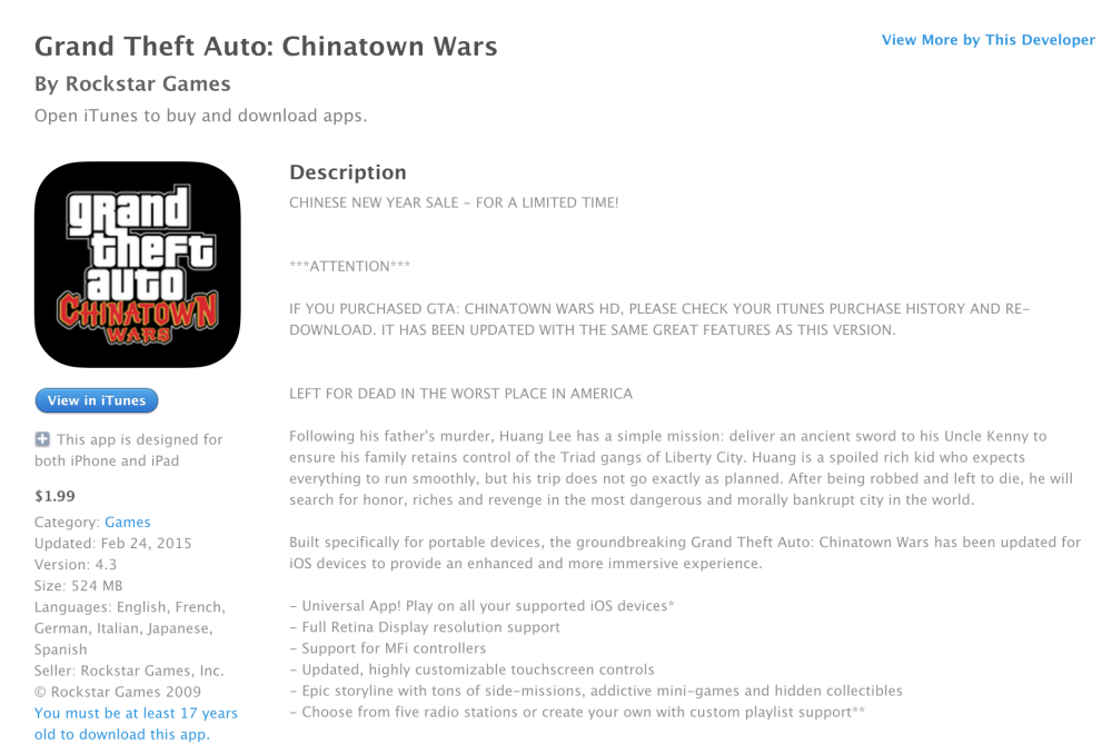 Grand Theft Auto- Chinatown Wars for iOS-7