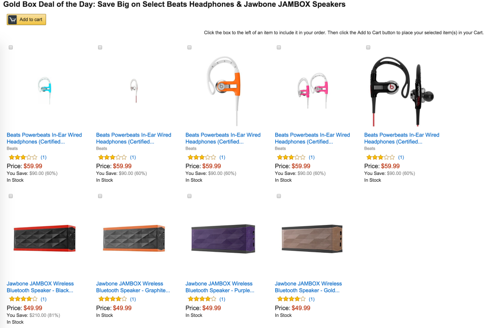 66e317e200f Amazon Gold Box - Jawbone JAMBOX Bluetooth Speaker (refurb) $50 ...