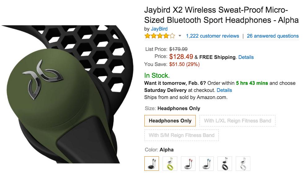 Jaybird X2 Wireless Amazon