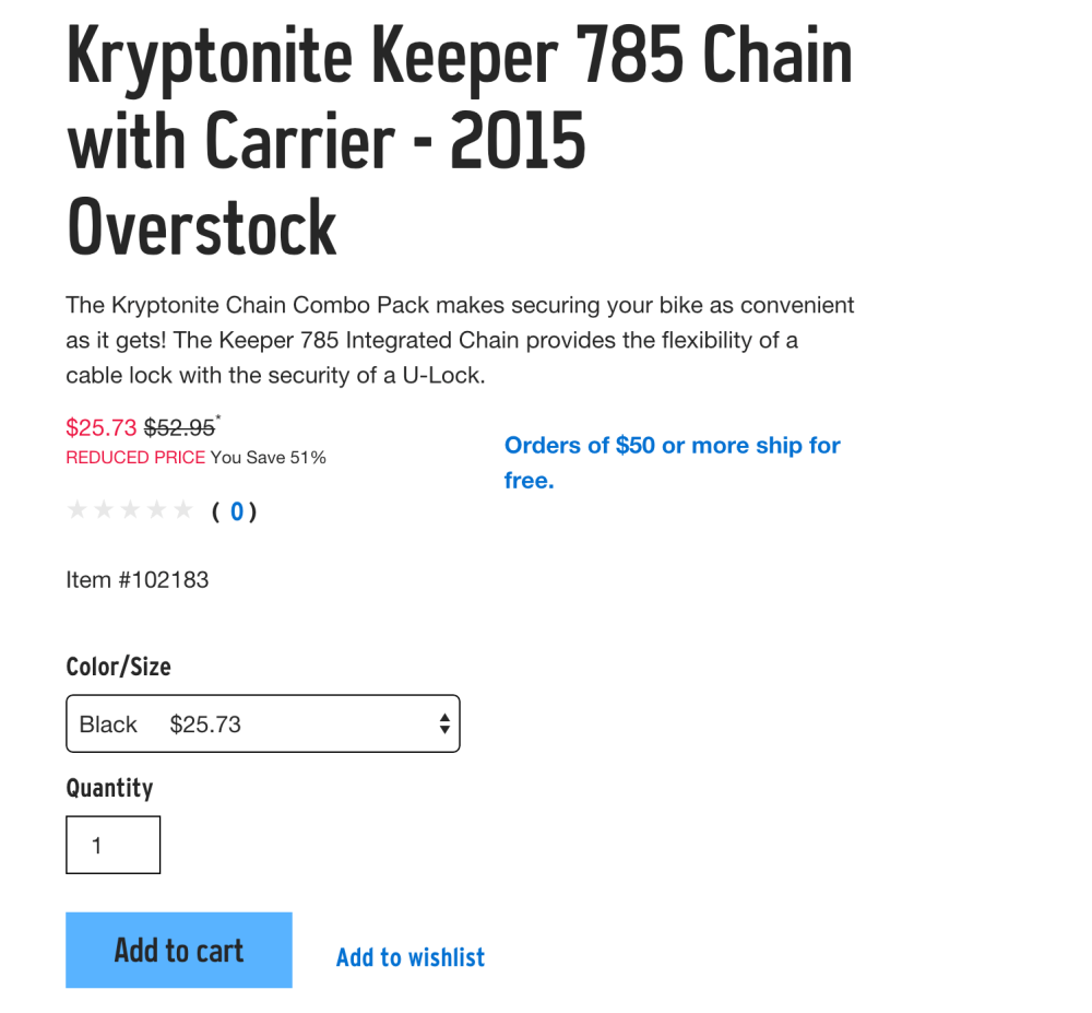 Kryptonite Keeper 785 Chain with Carrier bike lock system-sale-03