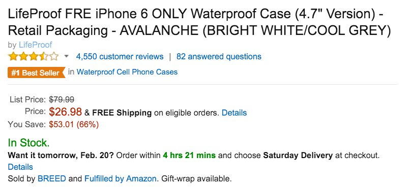 LifeProof FRE iPhone 6 ONLY Waterproof Case