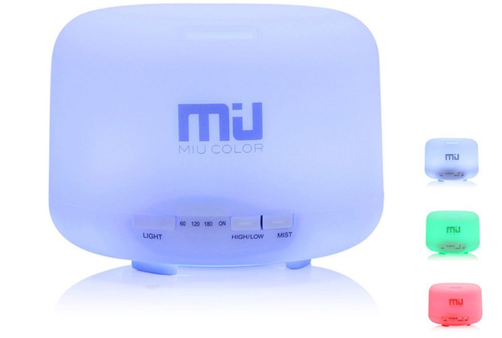 MIU 500ml Color Changing Humidifier:Aromatherapy Diffuser