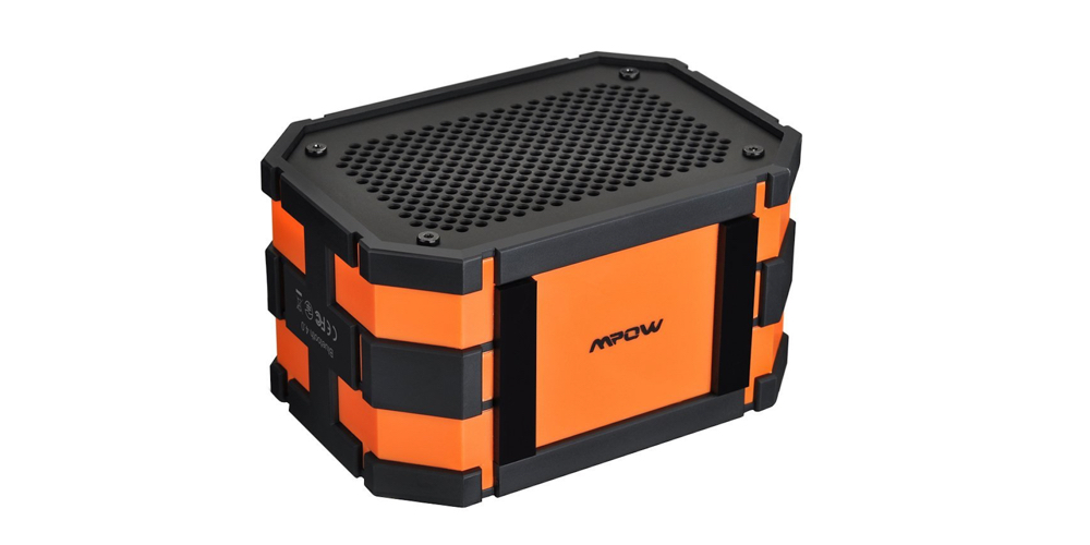 Mpow Armor Portable Wireless Bluetooth Speakers Splash:Shock:Dust proof for Outdoor:Shower, Orange:Black