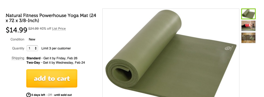 Natural Fitness Powerhouse Yoga Mat-sale-01