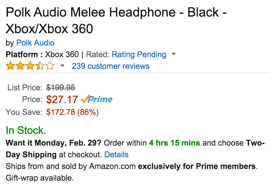 Polk Audio Melee Headphone in Black for Xbox One:Xbox 360-6
