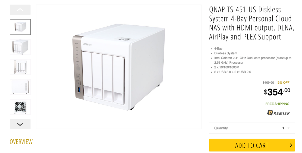 QNAP Diskless System 4-Bay Personal Cloud NAS with HDMI output, DLNA, AirPlay and PLEX Support (TS-451-US)-3