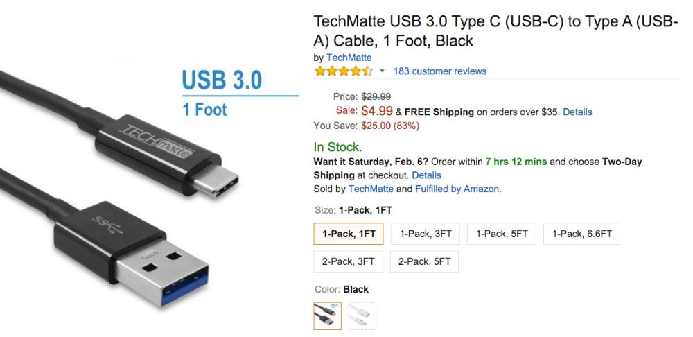 TechMatte USB 3.0 Type C Amazon