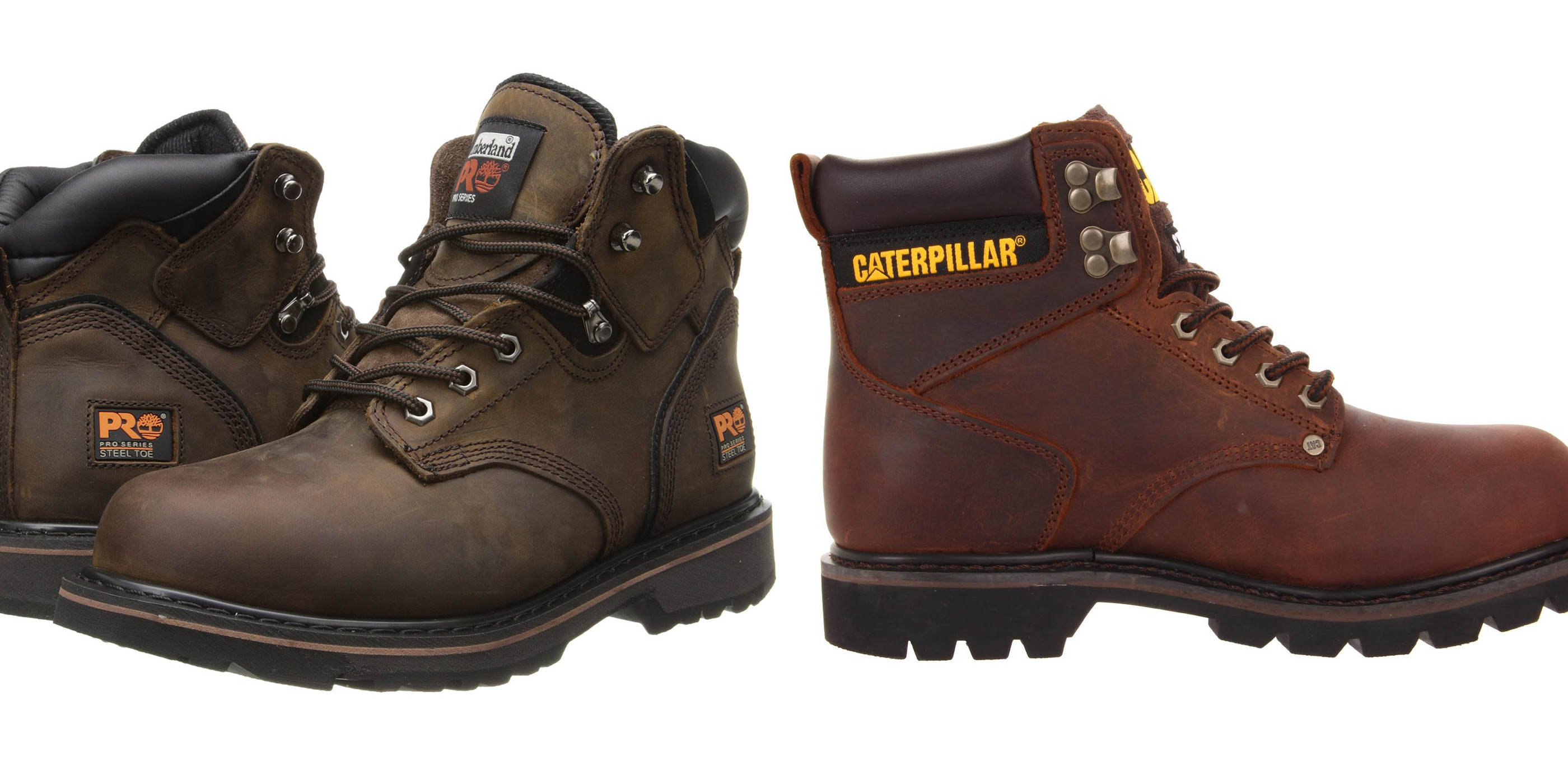 b0246dec Amazon offers up to 40% off work/safety boots & shoes from $24:  Caterpillar, Timberland, Skechers, Levi's, more