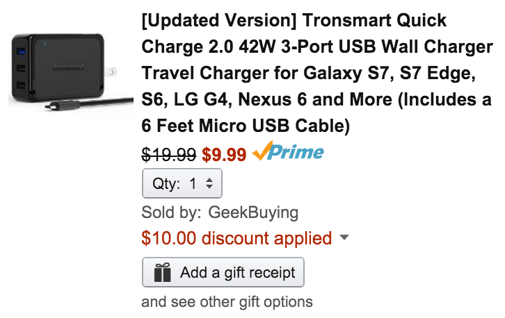 tronsmart-usb-charger-amazon-deal