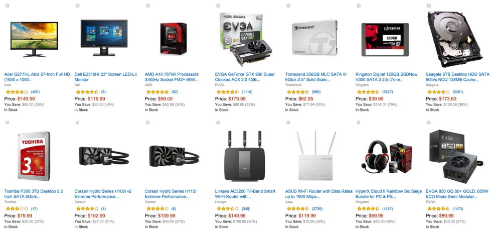 up to 60% off select PC components and accessories