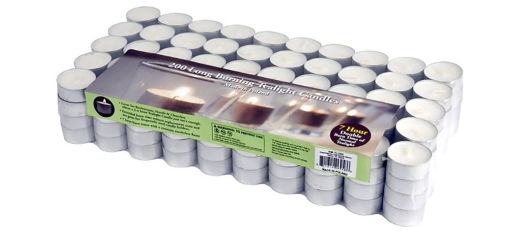 200-pack of Stonebriar Paraffin Tealight Candles-sale-01