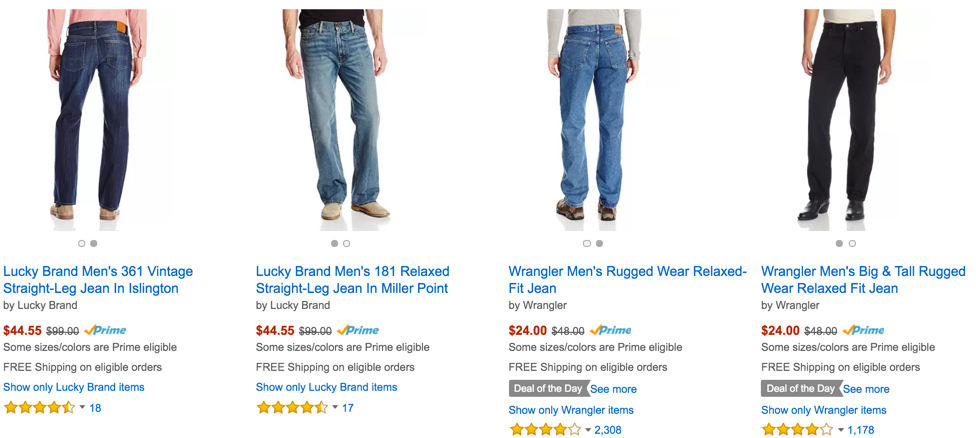 50% off or more jeans amazon