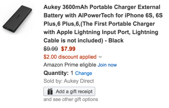 Aukey powerbank coupon