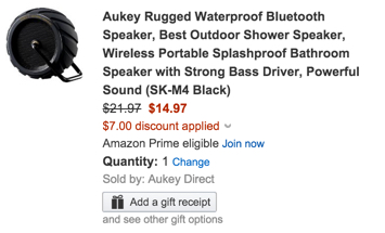Aukey Rugged Waterproof Bluetooth Speaker, Best Outdoor Shower Speaker