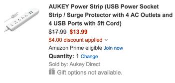 Aukey USB Power Socket
