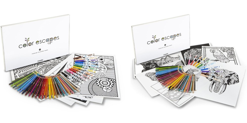 Crayola Geometric Color Escapes Adult Coloring Pages & Pencil Kit-3