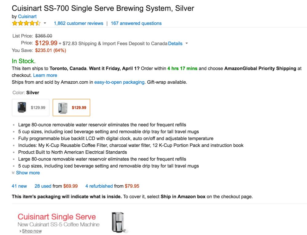 Cuisinart SS-700 Single Serve Keurig Brewing System-2