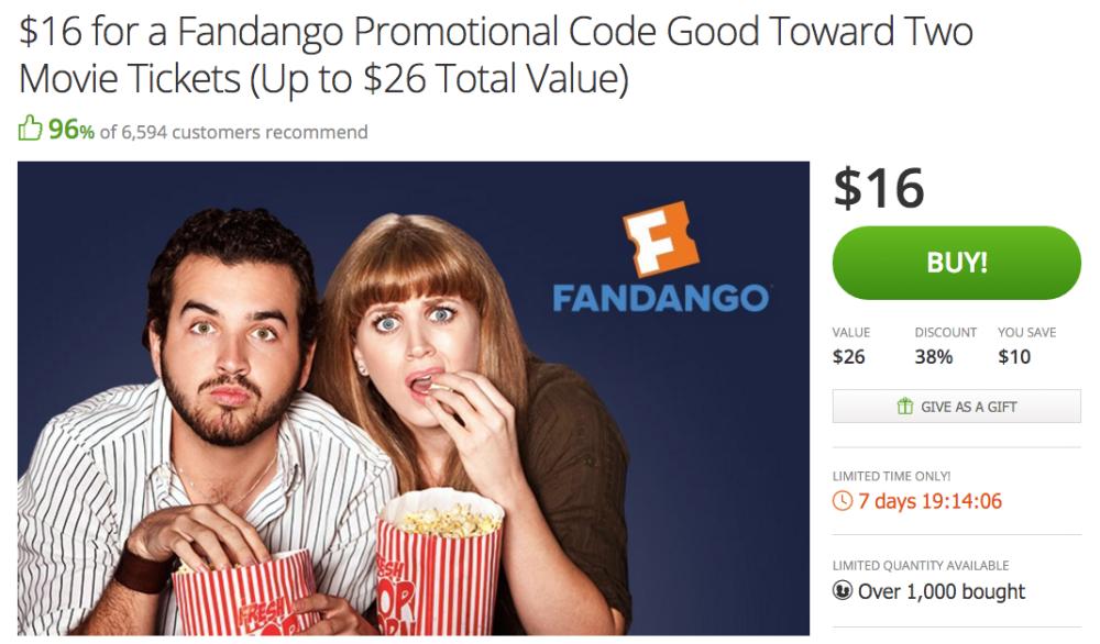 Fandango Promotional Code