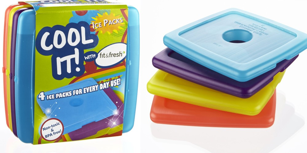 Fit & Fresh Cool Coolers Slim Lunch Ice Packs-1