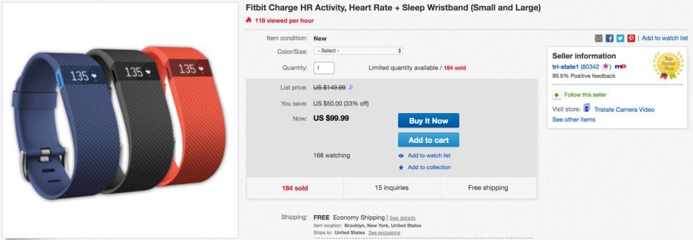 fitbit HR ebay