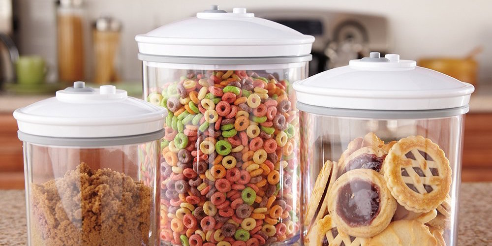 FoodSaver 3 Piece Round BPA-free Canister Set-1