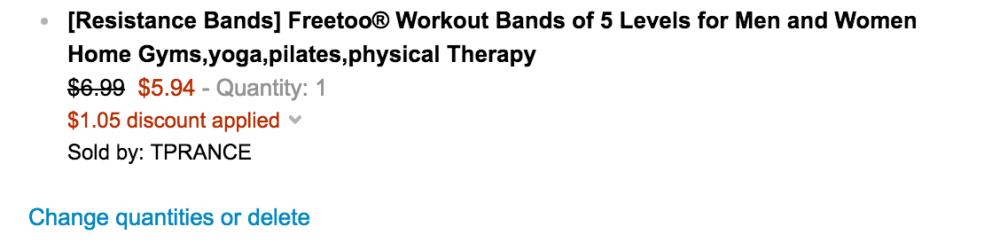 Freetoo Best Workout Rubber Band Resistance Bands set-3