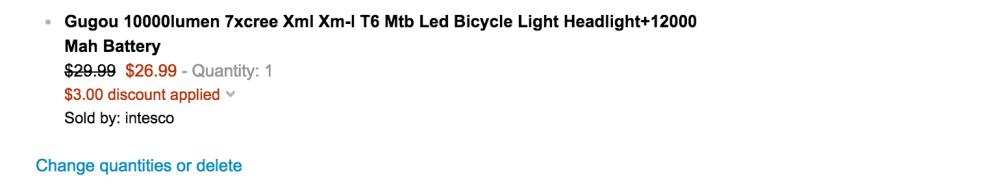 Gugou Waterproof CREE T6 LED Bicycle Light-2