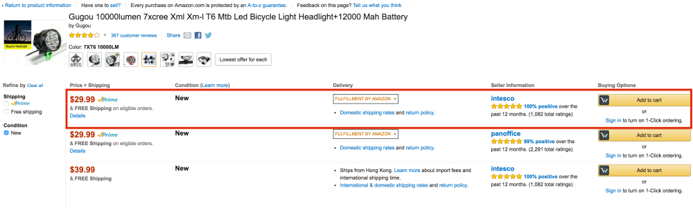 Gugou Waterproof CREE T6 LED Bicycle Light-4