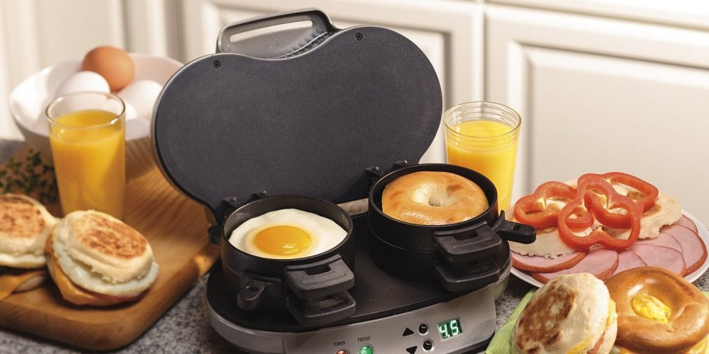 Hamilton Beach Dual Breakfast Sandwich Maker (25490A)-sale-01