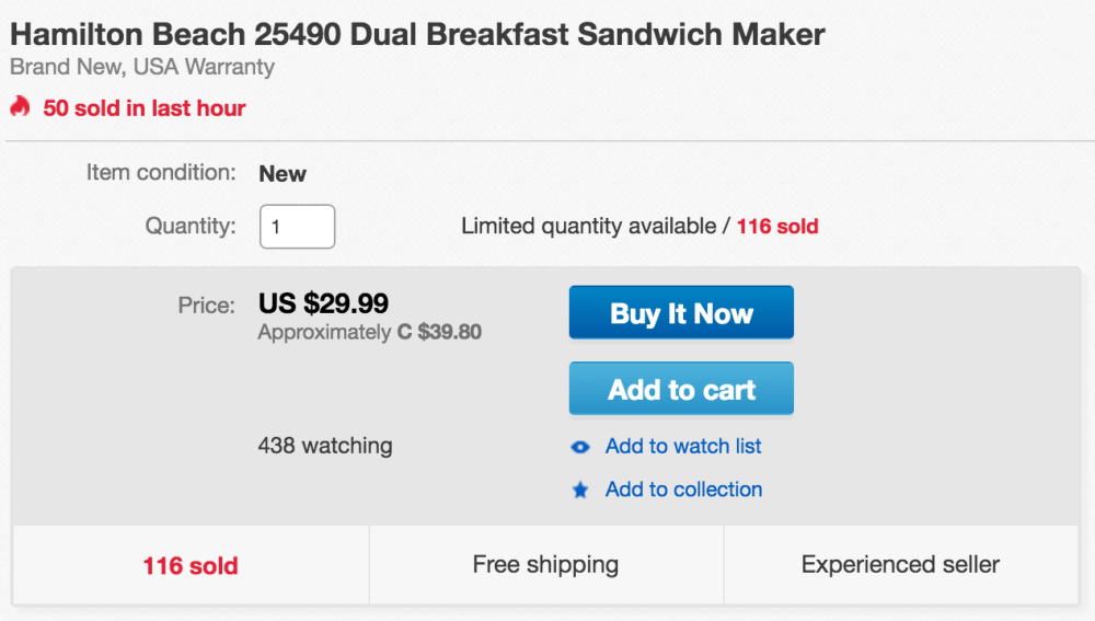 Hamilton Beach Dual Breakfast Sandwich Maker (25490A)-sale-02