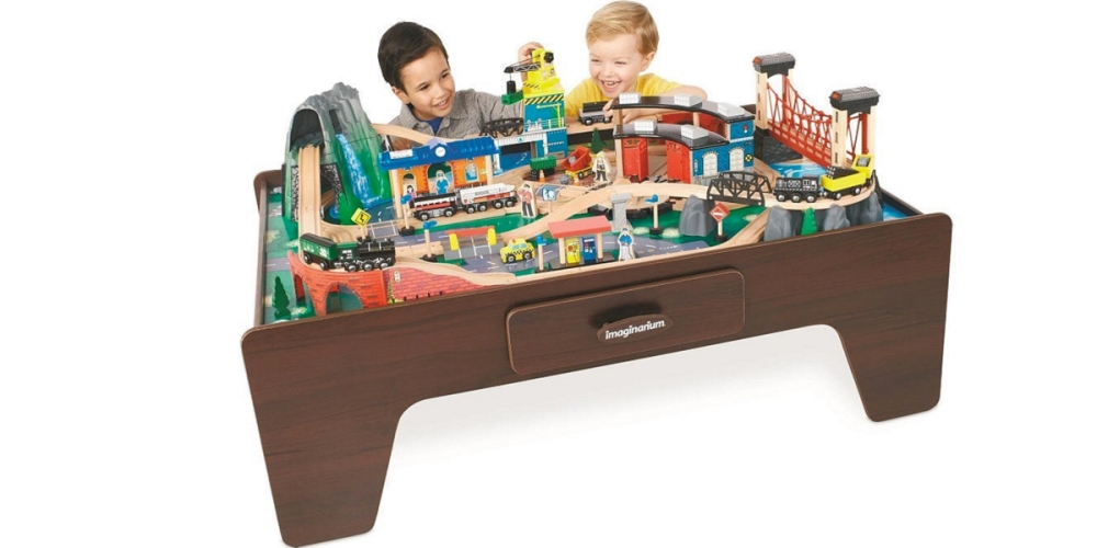 Imaginarium 100 + Piece Mountain Rock Train Table
