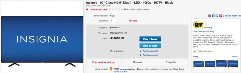 Insignia - 50%22 Class (49.5%22 Diag.) - LED - 1080p - HDTV