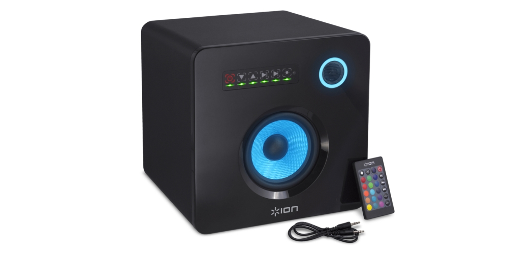 Ion Flash Cube Bluetooth Speaker with Ambient Lighting