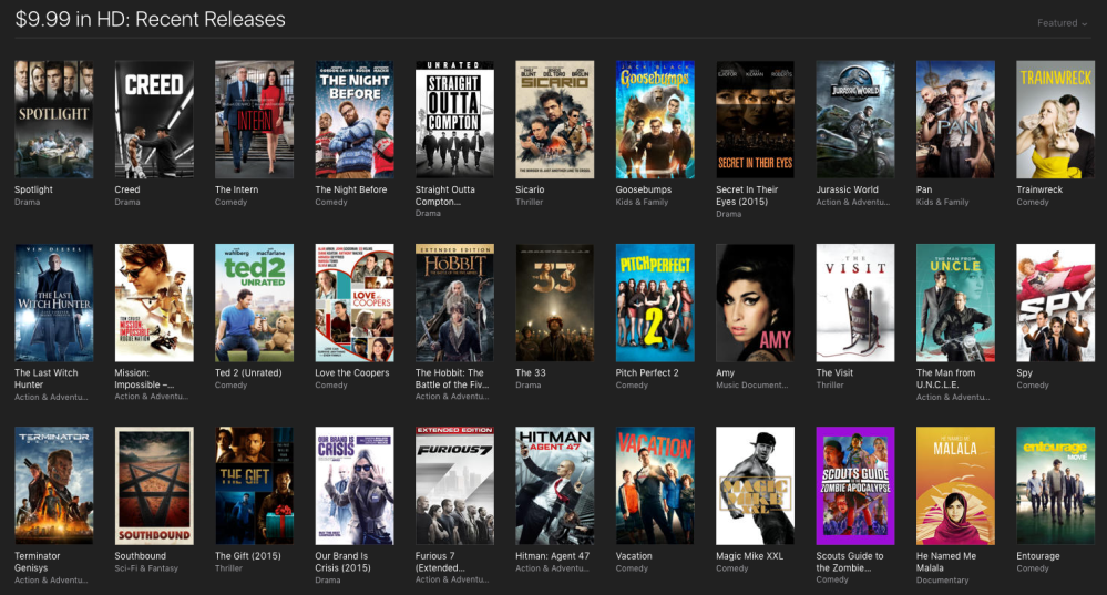 itunes movie deals