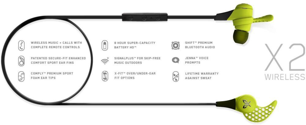 Jaybird's X2 Sport Wireless Bluetooth Headphones