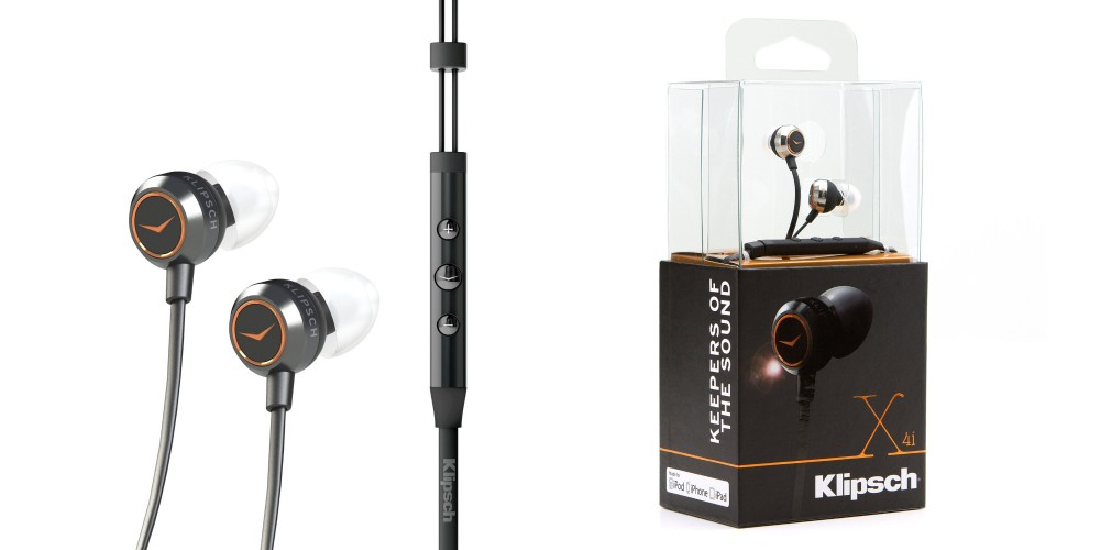 Klipsch 1015882 X4i Earbuds with Playlist Control for iPod:iPhone:iPad - Silver:Black