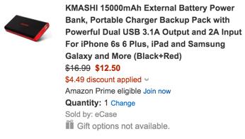 kmashi dual usb power bank