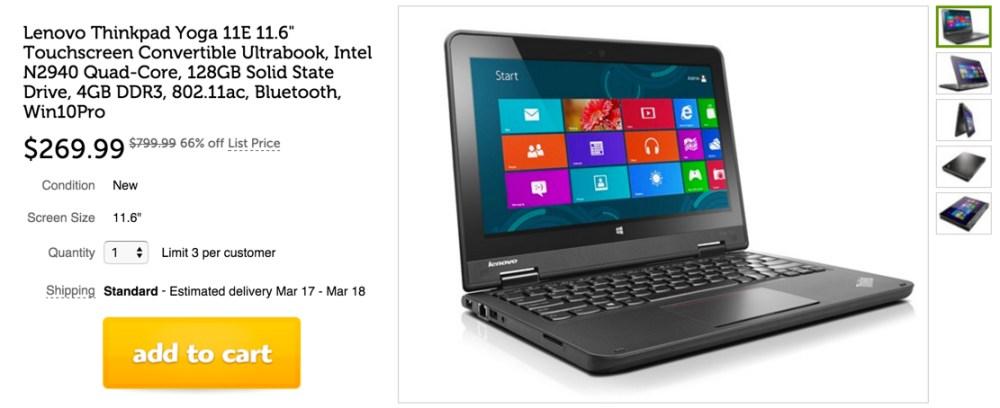Lenovo Thinkpad Yoga Touchscreen Convertible Ultrabook